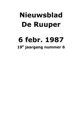Dorpsblad Leunen-Veulen-Heide 1987-02-06