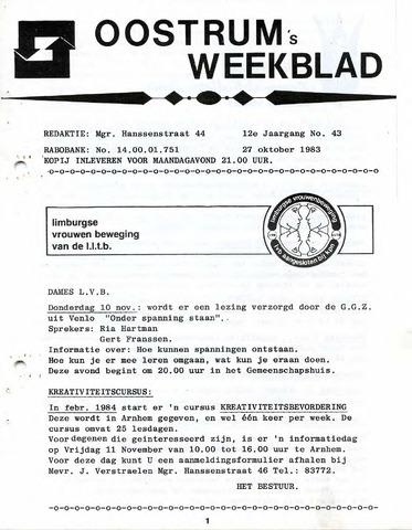 Oostrum's Weekblad 1983-10-27