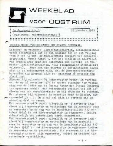 Oostrum's Weekblad 1972-10-27