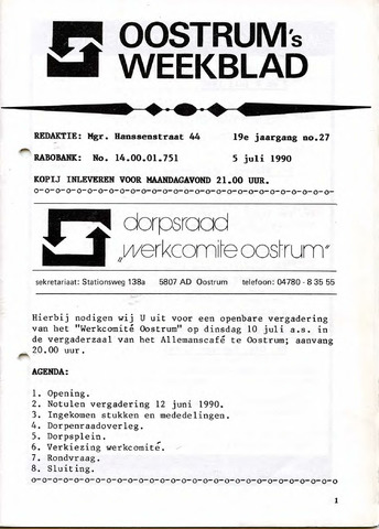 Oostrum's Weekblad 1990-07-05