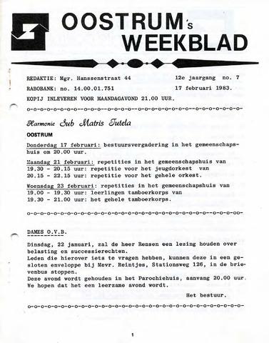 Oostrum's Weekblad 1983-02-17