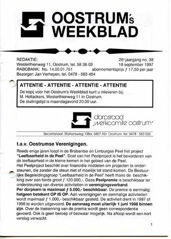Oostrum's Weekblad 1997-09-18