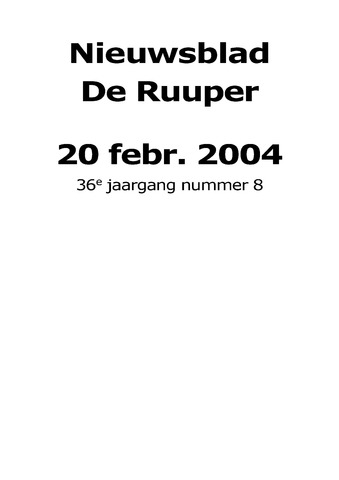 Dorpsblad Leunen-Veulen-Heide 2004-02-20