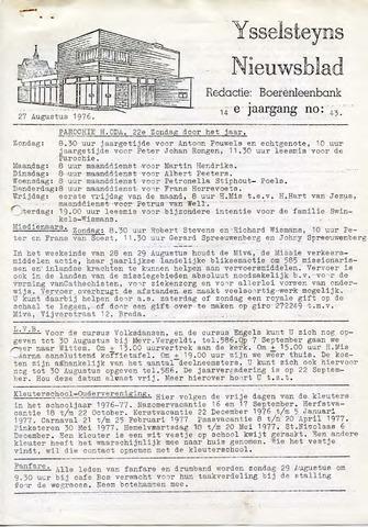 Ysselsteyns Nieuwsblad 1976-08-27