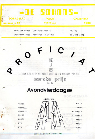 Castenrays dorpsblad De Schans 1983-06-17
