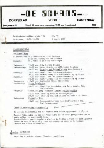 Castenrays dorpsblad De Schans 1976-04-09