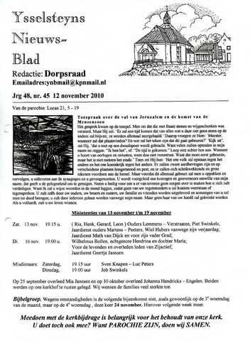 Ysselsteyns Nieuwsblad 2010-11-12