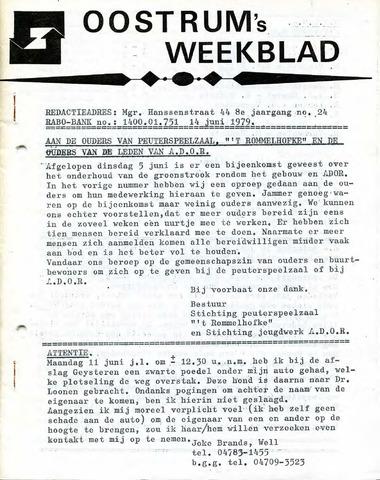 Oostrum's Weekblad 1979-06-14