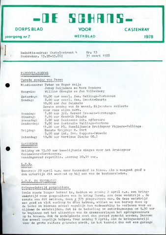 Castenrays dorpsblad De Schans 1978-03-31