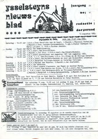 Ysselsteyns Nieuwsblad 1982-08-13
