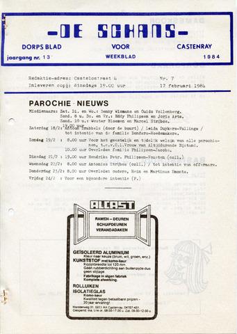 Castenrays dorpsblad De Schans 1984-02-17
