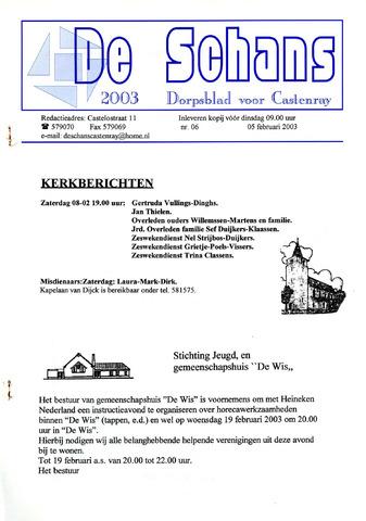 Castenrays dorpsblad De Schans 2003-02-05
