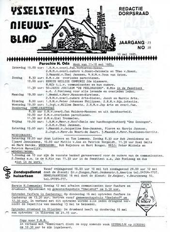Ysselsteyns Nieuwsblad 1985-05-10