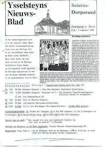 Ysselsteyns Nieuwsblad 1994-08-05