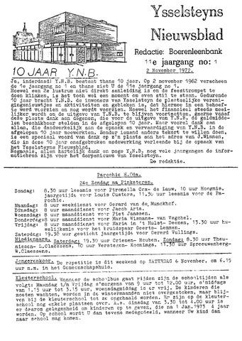 Ysselsteyns Nieuwsblad 1972-11-02