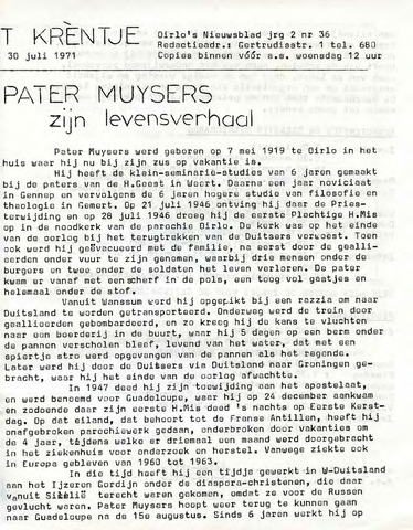 Oirlo's dorpsblad 't Krèntje 1971-07-30