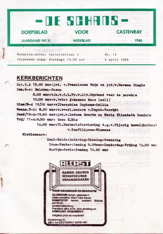 Castenrays dorpsblad De Schans 1986-04-04