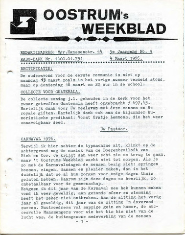 Oostrum's Weekblad 1976-03-04