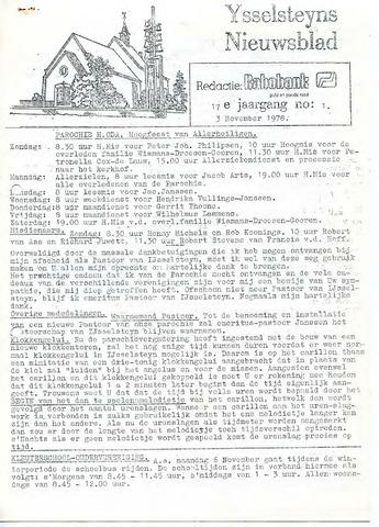 Ysselsteyns Nieuwsblad 1978-11-03