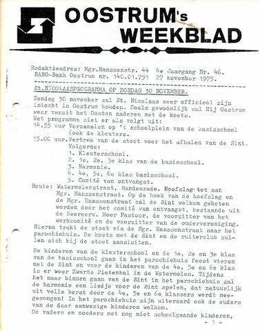 Oostrum's Weekblad 1975-11-27