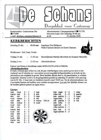 Castenrays dorpsblad De Schans 2008-10-22