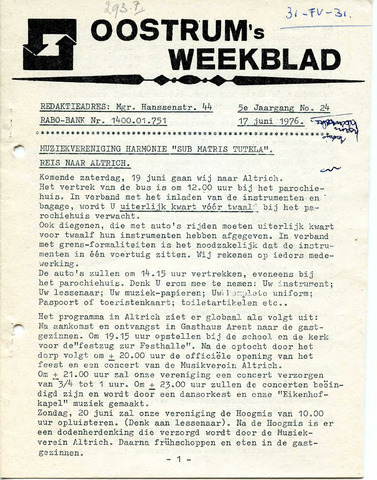 Oostrum's Weekblad 1976-06-17
