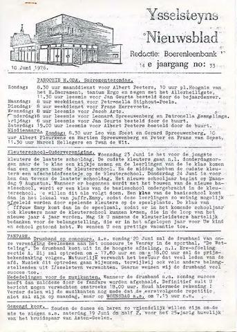 Ysselsteyns Nieuwsblad 1976-06-18