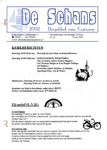 Castenrays dorpsblad De Schans 2002-05-15