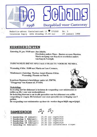 Castenrays dorpsblad De Schans 1998-01-29