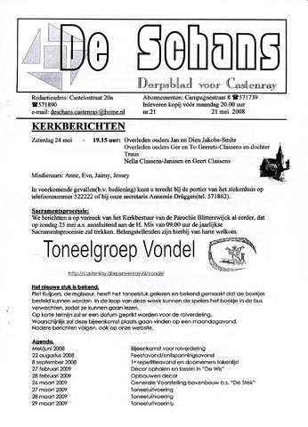 Castenrays dorpsblad De Schans 2008-05-21