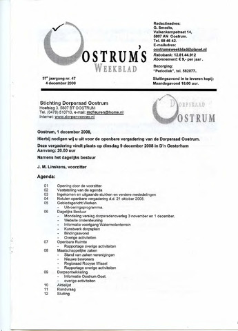 Oostrum's Weekblad 2008-12-04