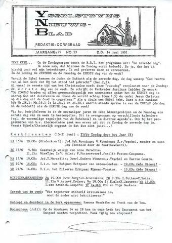 Ysselsteyns Nieuwsblad 1991-06-14