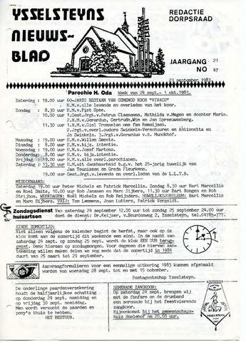 Ysselsteyns Nieuwsblad 1983-09-23