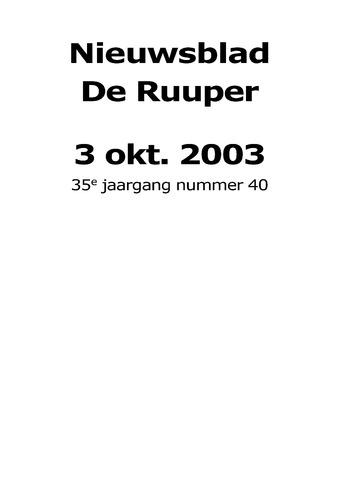 Dorpsblad Leunen-Veulen-Heide 2003-10-03