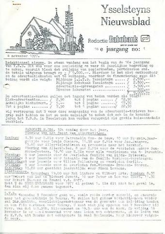 Ysselsteyns Nieuwsblad 1977-11-04