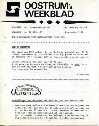 Oostrum's Weekblad 1987-12-10