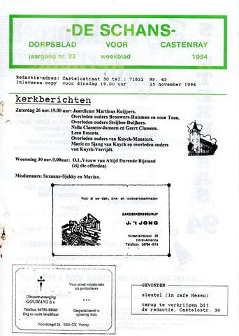 Castenrays dorpsblad De Schans 1994-11-25
