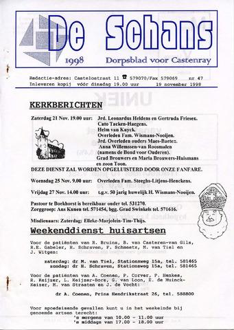 Castenrays dorpsblad De Schans 1998-11-19
