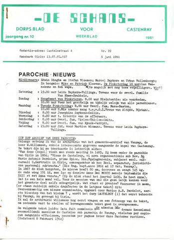 Castenrays dorpsblad De Schans 1981-06-05