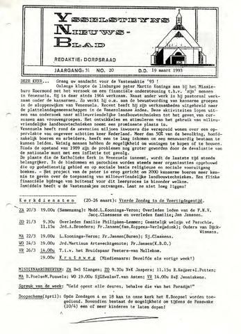 Ysselsteyns Nieuwsblad 1993-03-19