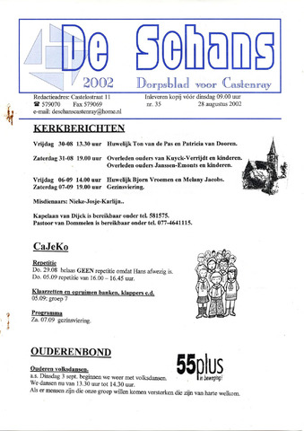 Castenrays dorpsblad De Schans 2002-08-28