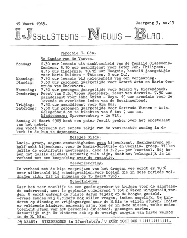 Ysselsteyns Nieuwsblad 1965-03-17