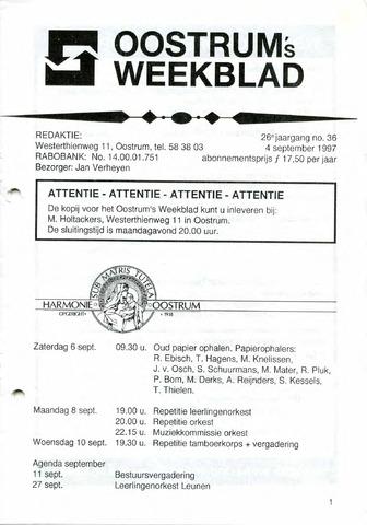Oostrum's Weekblad 1997-09-04