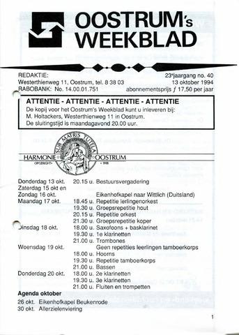 Oostrum's Weekblad 1994-10-13