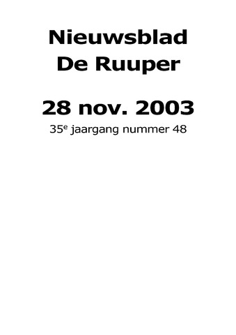 Dorpsblad Leunen-Veulen-Heide 2003-11-28