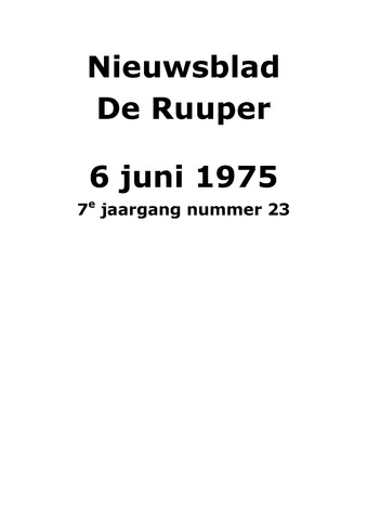 Dorpsblad Leunen-Veulen-Heide 1975-06-06