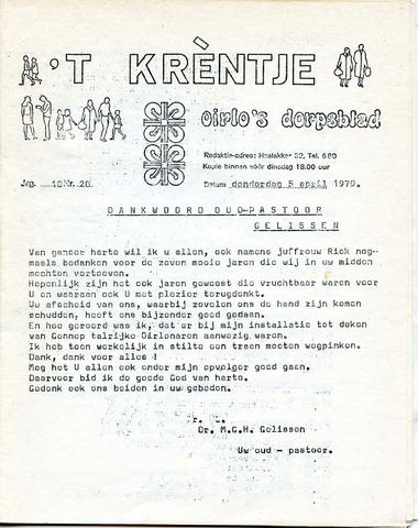 Oirlo's dorpsblad 't Krèntje 1979-04-05