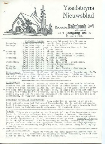 Ysselsteyns Nieuwsblad 1980-03-14