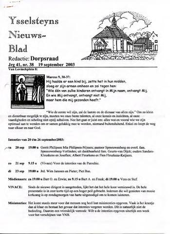 Ysselsteyns Nieuwsblad 2003-09-19