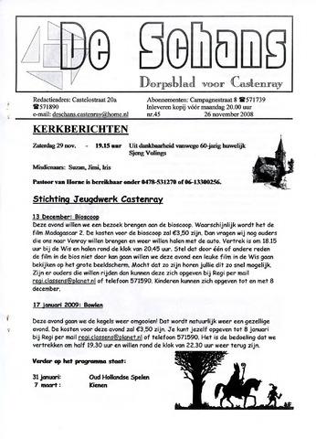 Castenrays dorpsblad De Schans 2008-11-26